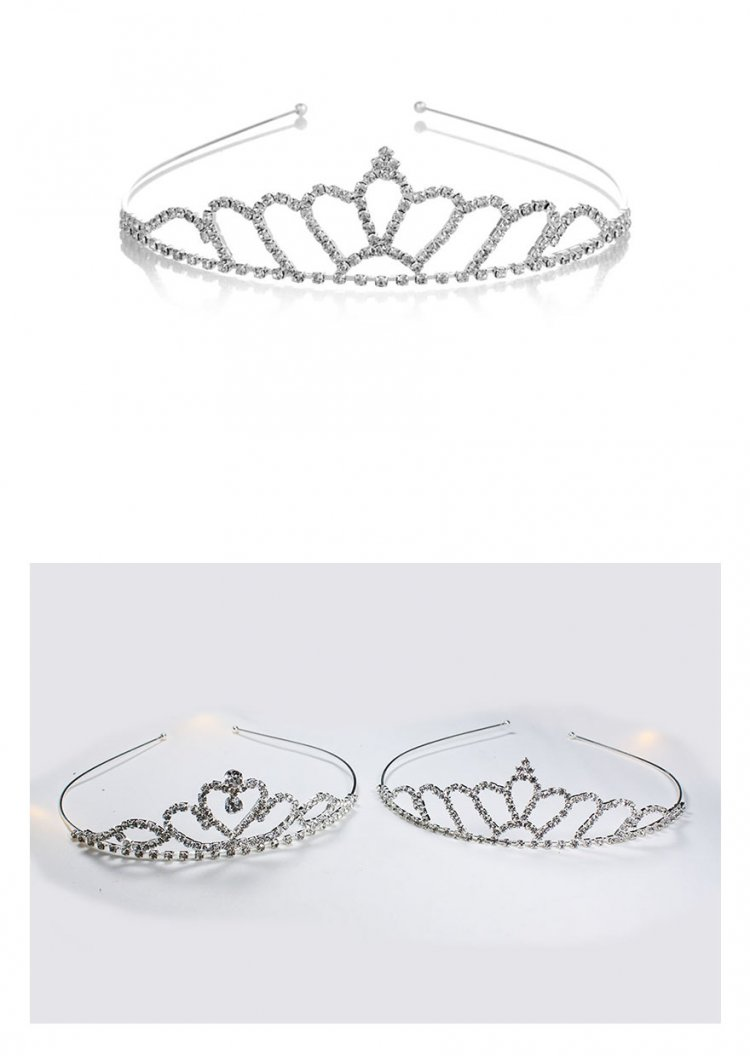 A-YZ-HG0002 Wedding Tiara of Crystal Crown Pattern Malaysia Shop