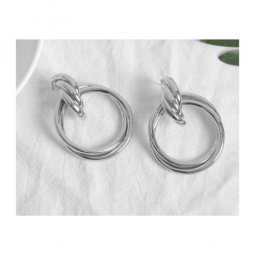 A-FX-E3466silver Silver Korean Fashion Rings Trendy Earstuds