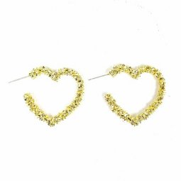 A-TT-C600 LOVE Gold Elegant Pretty Simple Earrings Malaysia