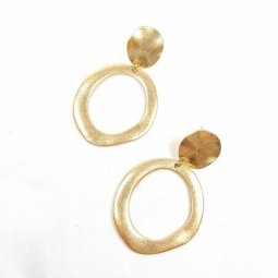 B-FFOM-E3(1)- Gold Simple Classic Thick Circle Earrings