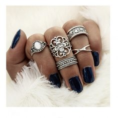 A-DW-5311 Silver Ring Vintage Ring Set Malaysia