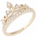 C0150730811.8 Crown shiny crystals ring korean accessories shop