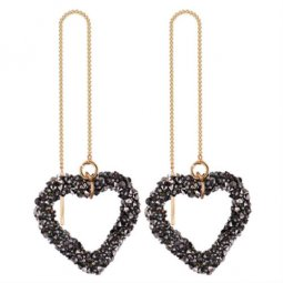 P132242 Korean Style Shinning Heart Shape Linked Earstud Shop
