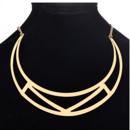 A-CJ-CZ9171 Gold Moon Elegant Dinner Statement Necklace Malaysia