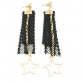 A-GH-ER1154 Dangling Star Charms Lace Korean Inspired Earstuds