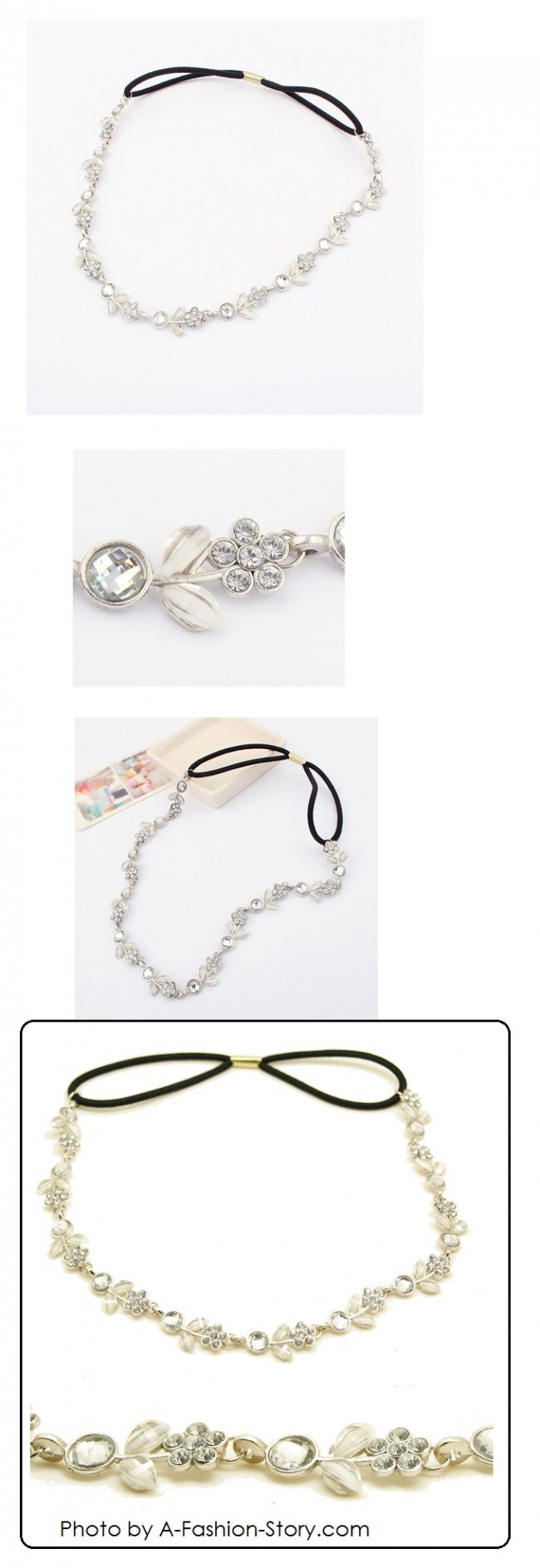 A-Q-8060 P96389 Flower bead headband hair accessories malaysia