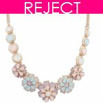 RD0400-Reject Design RD0400 - Spring flowery choker necklace