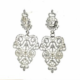A-SQ-ES0214 Silver Eligent Indian Design Hot Selling Earstuds