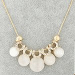 C09052618 Creamy cat eyes round bead choker necklace malaysia