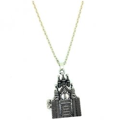 A-KJ-N013465SILVER Magnatic Sliver Castle Long Necklace Malaysia