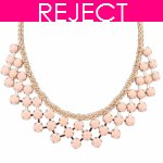 RD0224- Reject Design RD0224- Pink beads Choker Necklace