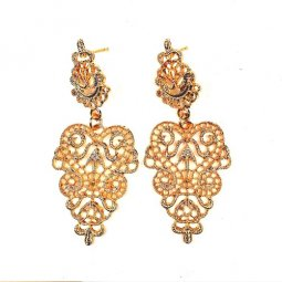 A-SQ-ES0214 Gold Eligent Indian Design Hot Selling Earstuds