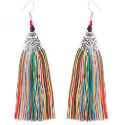 C110532132 Colourful Tassel Bohemian Hook Earrings Malaysia