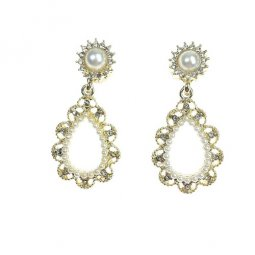 A-TT-979 Pearl Gold Korean Earring Malaysia Styles Trending
