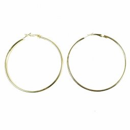 A-LG-roundgold GOLDEN CIRCLE HOOP EARRINGS MALAYSIA SHOP L