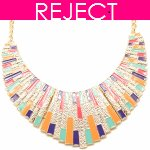 RD0378-Reject Design RD0378-Colourful moon gold choker necklace