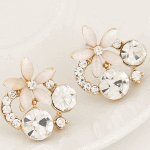 C11050812 Shiny crystals flower spring earstuds accessories shop