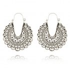 A-YG-sku4575silver Sliver Vintage Mandala Patterns Hook Earrings