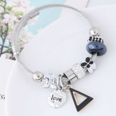 C14032068 Butterfly Crystal Love Charm Bangle Accessories Shop