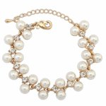 P118932 Pearl beads gold bracelet accessories shop malaysia