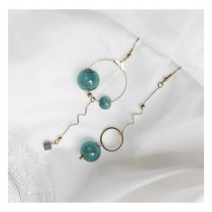 A-TT-1014 Trendy Blueish Green Beads Fashion Hook Earrings