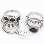 C10031137 Peace antique ring black korean ring wholesale