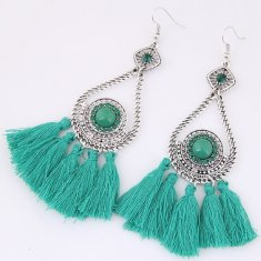 C09033682 Green Tassel Bohemian Bead Hook Earrings Shop