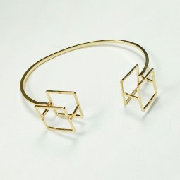 B-K-cube Cube 3D Geometry Golden Bangle Trending