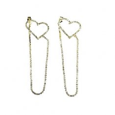 A-LG-ER0777star Gold Classic Love Diamond Strip Korean Earstuds