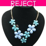 RD0412-Reject Design RD0412 - Spring blue green choker necklace