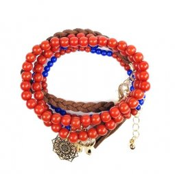 B-MLSF-003 Blue Red Brown Five Set Elastic Bracelet AFS Malaysia