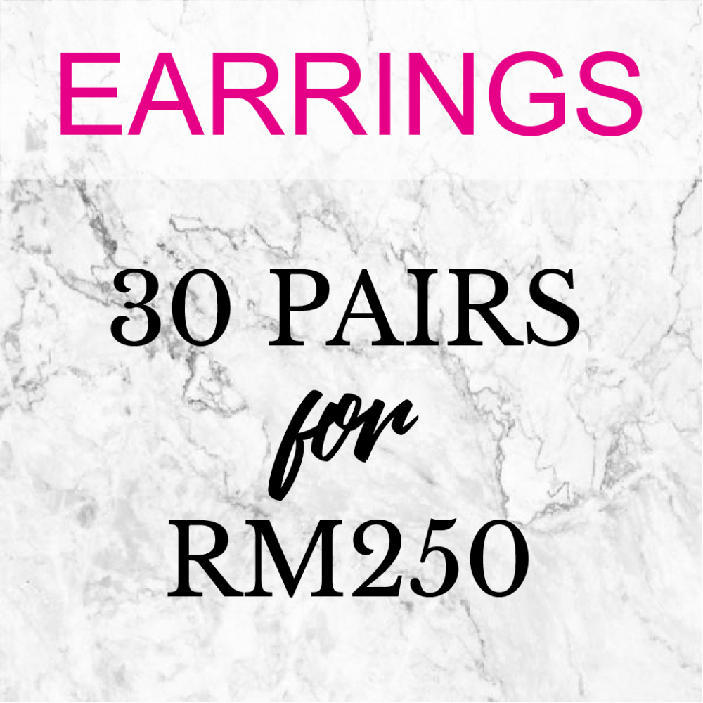 Earrings - 30 Pairs ( Choose Any 30 Earrings Designs)