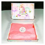 L-UN-GBunic Unicorn Design Gift For You Gift Box with Pink Wrapp
