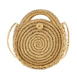 A-HJ-round3 Summer Round Bali Rattan Fashion Sling Bag
