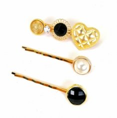 A-JW-1901094G Gold Set Fancy 3 Pieces Lady Boss Hairclip