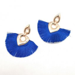 A-SD-XL0324- Gold Classic Blue Love Shape Earstuds Earring