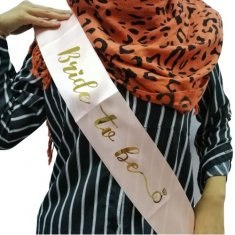 A-PT-SAM 1855 Peach Orange Bride To Be Sashes Wedding Party