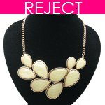 RD0407-Reject Design RD0407 - Yellow beads choker necklace