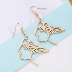 A-LG-ER0608princess Princess Face Korean Trendy Hook Earrings