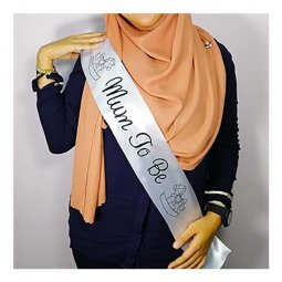 A-AP-LPP4080white Mum To Be Wording White Party Sashes Selempang