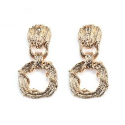 A-QF-30N1202 Gold Shell Sea Korean Ore Earrings Alisha Malaysia