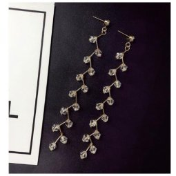A-SD-XL112543 Korean Clear Tangling Crystals Earstuds