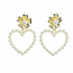 A-TT-492 Love Pearl Lily Flower Korean Styles Earrings Malaysia