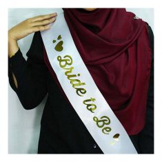A-SH-002 White Bride To Be Part Sashes Wedding Malaysia Shop