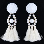 C014012968 White Tassel Bohemian Earstuds Accessories Shop