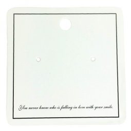 30CARD-SQUARE 30 Pieces Quote Earring Cards