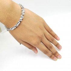 A-UK 5 WHITE CRYSTAL PRICESS CHARMING BRACELET