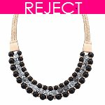 RD0127- Reject Design RD0127- Choker Necklace Black Beads