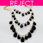 RD0156 - Reject Design RD0156-Grey bead layer statement necklace