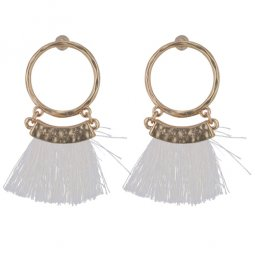 P132999 Cream Coloured Tassel With Golden Ring